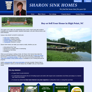 Realtor Web Site example