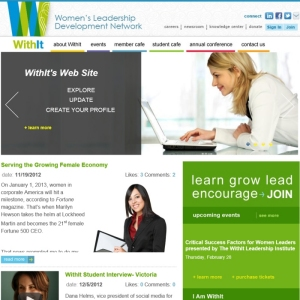 Membership Organization Web Site example