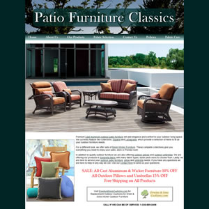 Furniture Web Site example